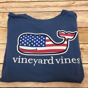 Vineyard Vines Patriotic Girls T Shirt, Sz 10/12